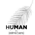 logo marque homme human estime et sens feuillage